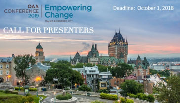 Call for OAA Conference Presenters